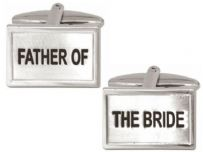 Dalaco 90-0227 Father Of The Bride Wedding Rhodium Plated Cufflinks
